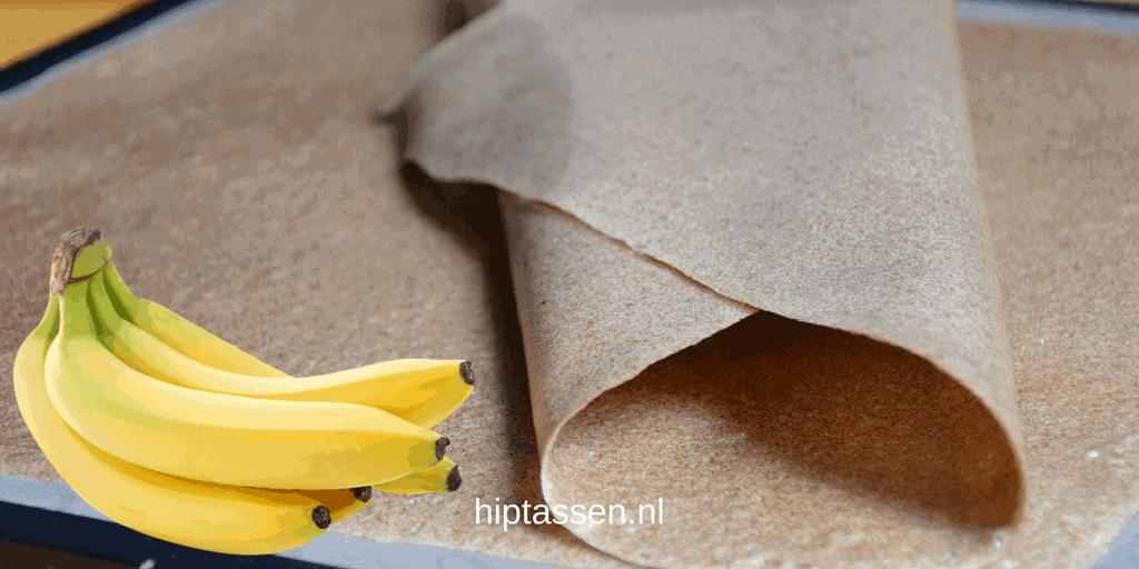 Vegan: Bananenleer wordt gemaakt van de vezels van de bananenboom stam.