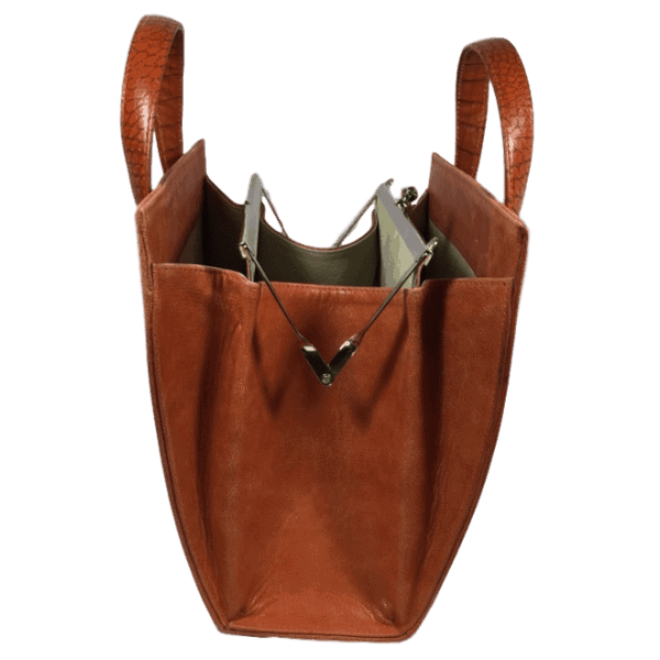 beugeltas oranje zijkant hip tassen