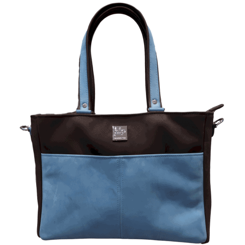 Boston-bruin-blauw zonder schouderband