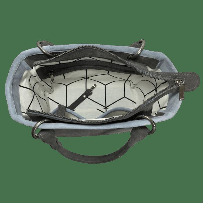 werktas-handtas-grijs-blauw-binnenkant