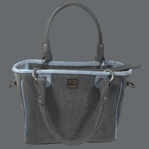 werktas-handtas-grijs-blauw-voorkant