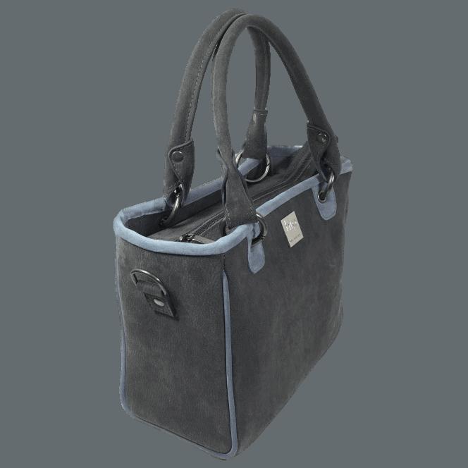 werktas-handtas-grijs-blauw-zijkant