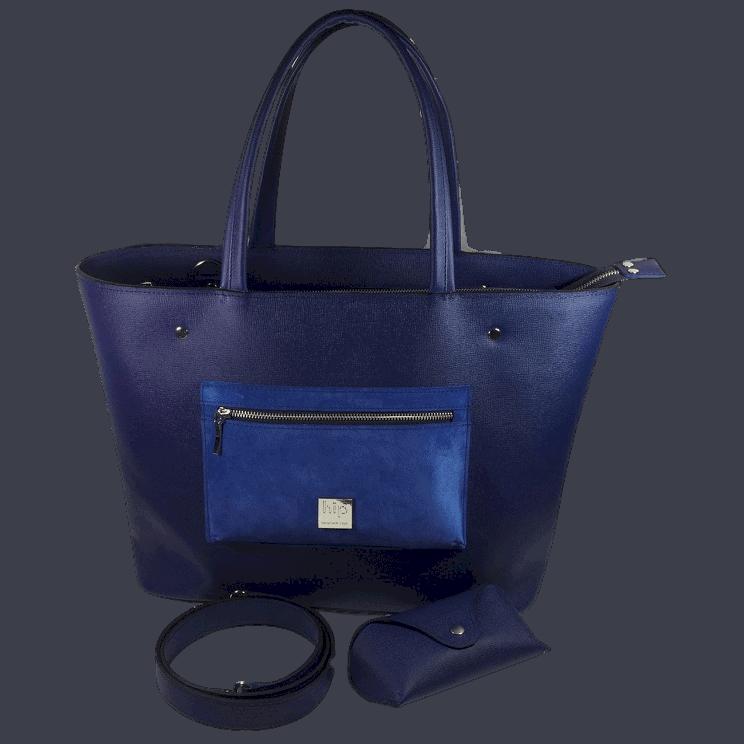 werktas-laptoptas-blauw-voorkant