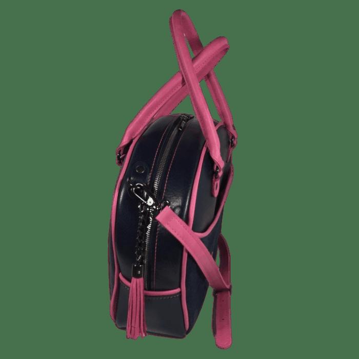 werktas-set-blauw-roze-zijkant-handtas