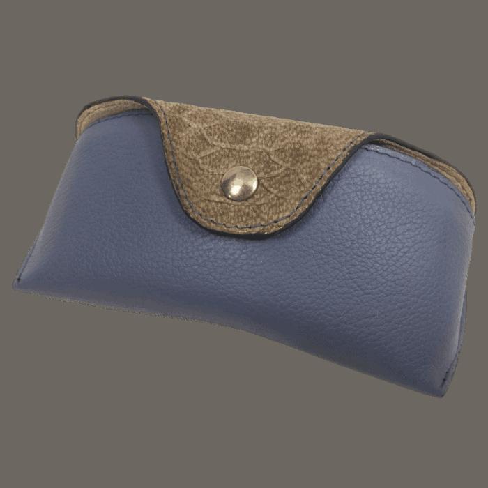 brillenkoker-dames-blauw-bruin-voorkant