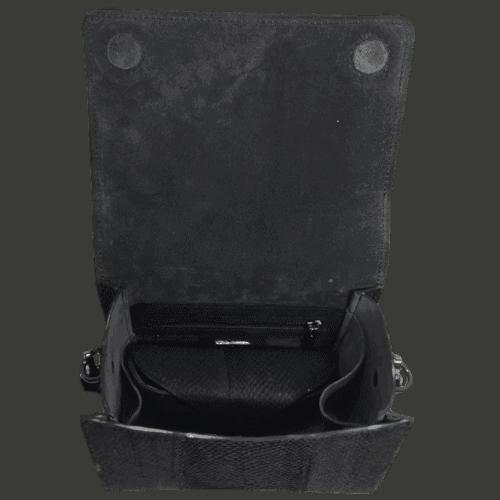 zalmleer handtas binnenkant