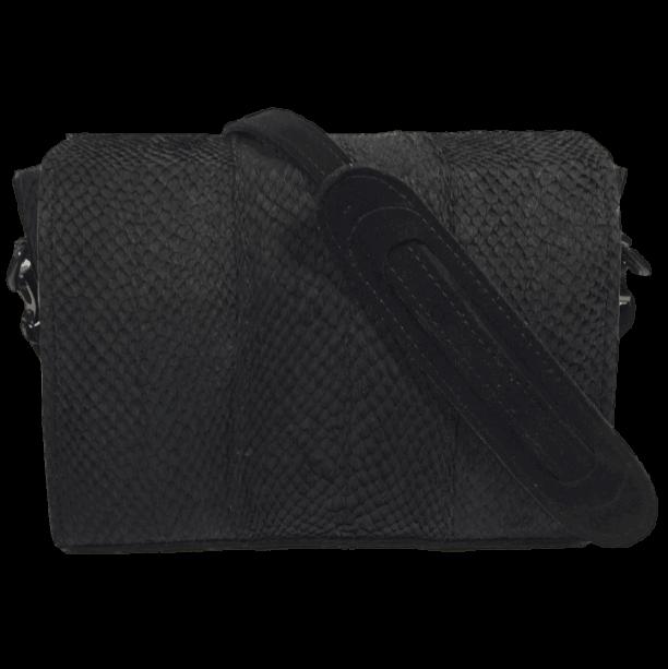 zalmleer handtas achterkant