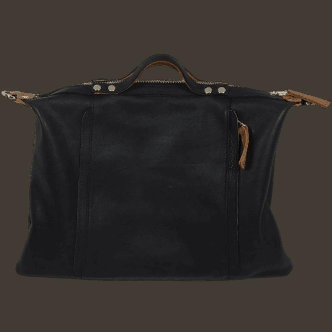 zwarte handtas achterkant