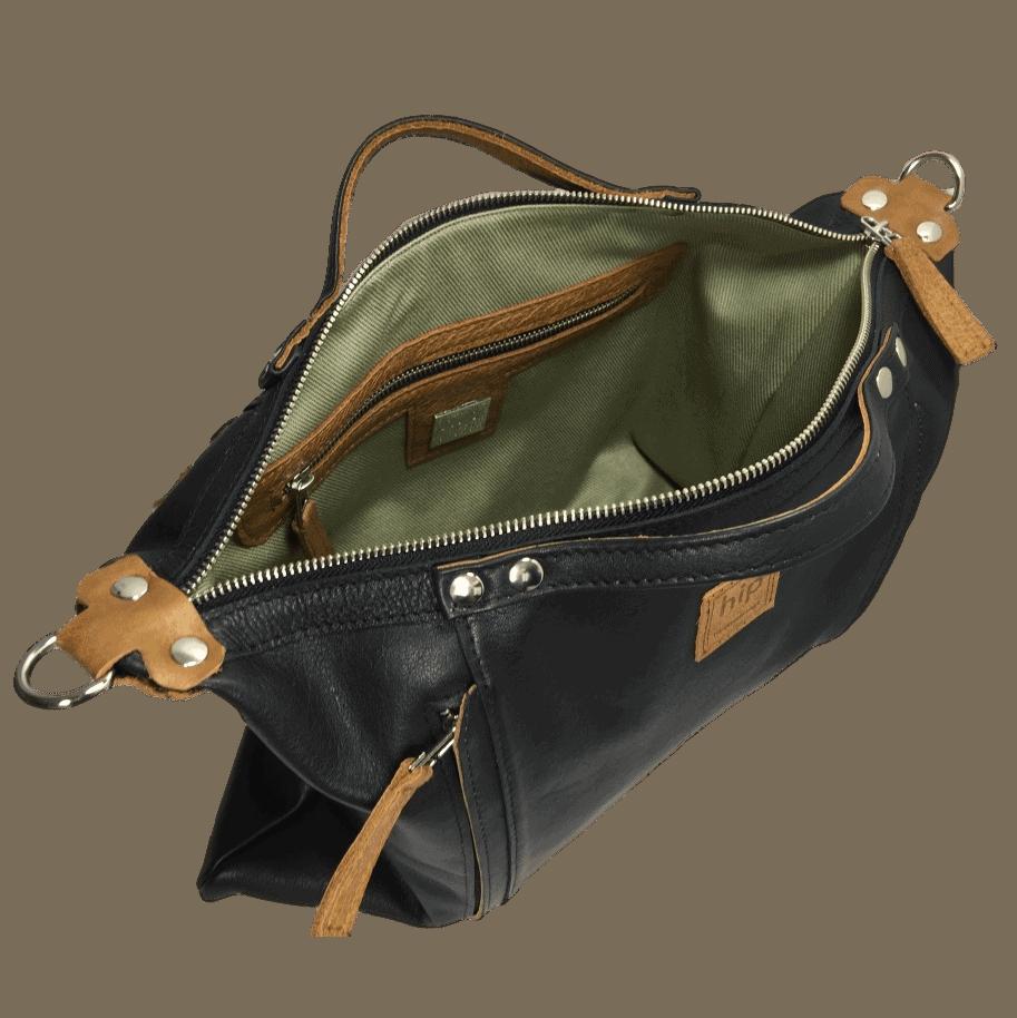 zwarte handtas binnenkant
