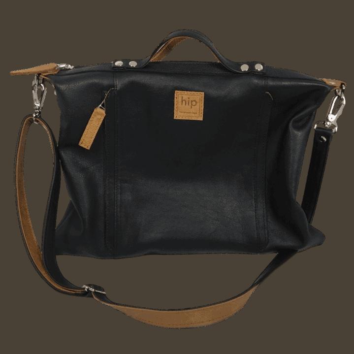 zwarte handtas voorkant