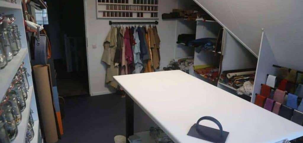 voorraadruimte atelier hip tassen