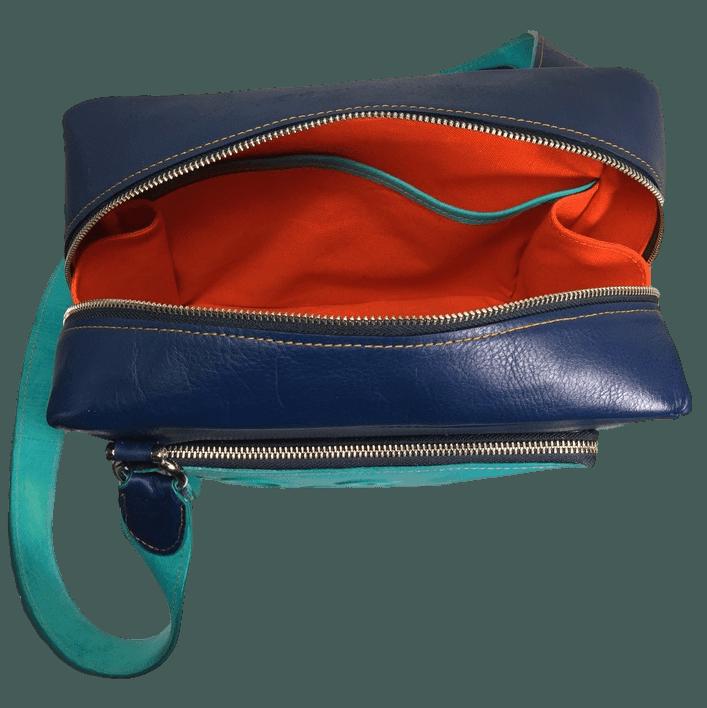 kleine werktas messenger bag binnenkant