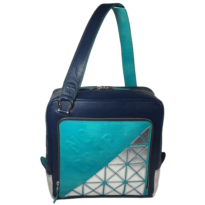 kleine werktas messenger bag voorkant met schouderband