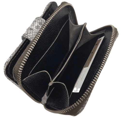 kleine-dames-portemonnee-grijs-slangenleerprint-binnenkant-muntvak-hiptassen-opmaatgemaakt