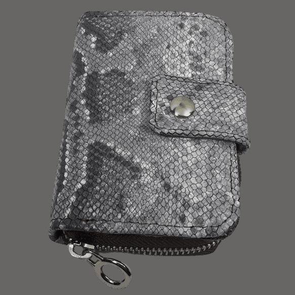 kleine-portemonnee-grijs-slangenleerprint-voorkant