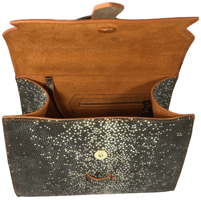roggenprint-dames-handtas-oranje-binnenkant-hiptassen-opmaaktgemaakt