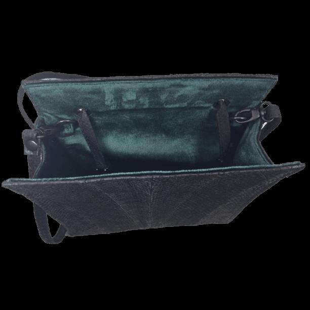 zalmleer-zwarte-handtas-binnenkant-hiptassen-opmaatgemaakt