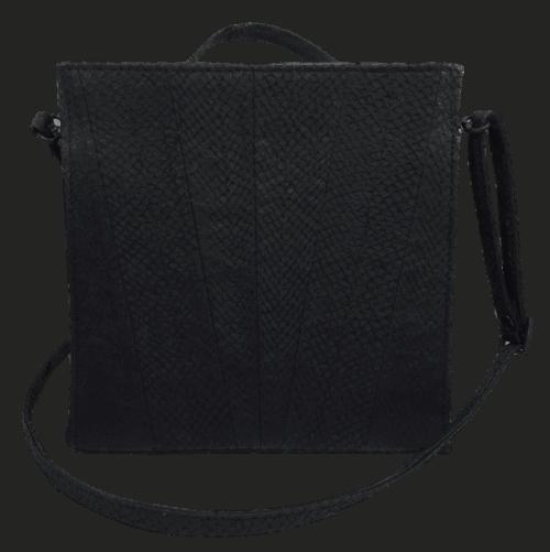 zalmleer-zwarte-handtas-voorkant