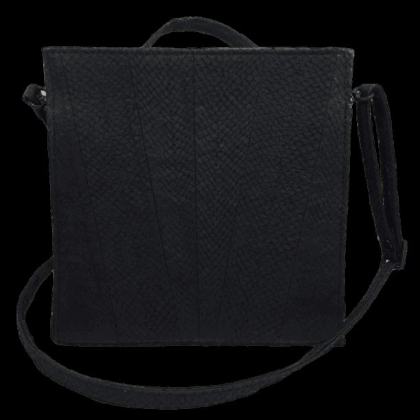 zalmleer-zwarte-handtas-voorkant-hiptassen-opmaatgemaakt