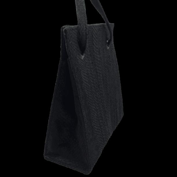 zalmleer-zwarte-handtas-zijkant-hiptassen-opmaatgemaakt