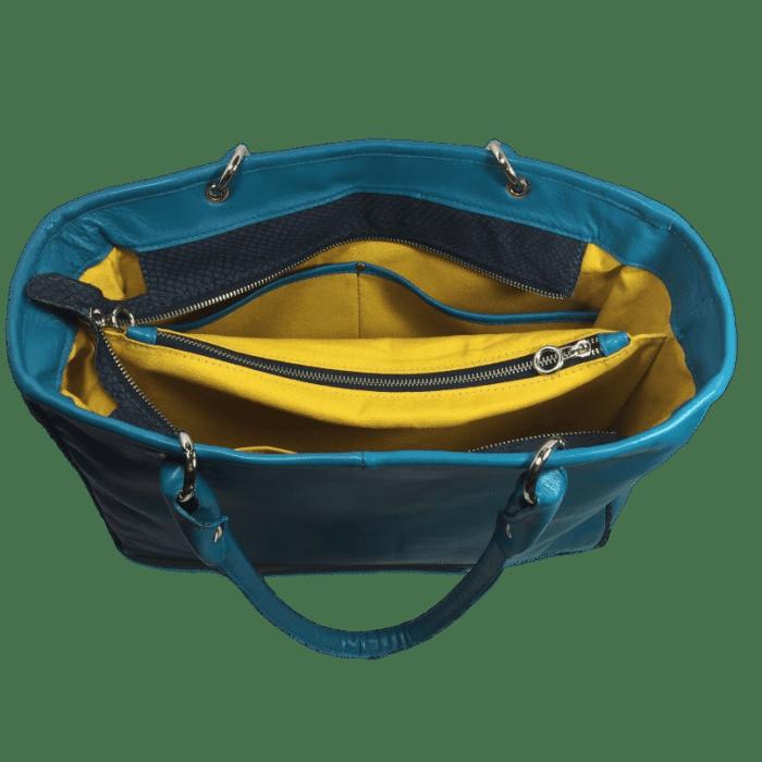 zalmleren-handtas-blauw-binnenkant