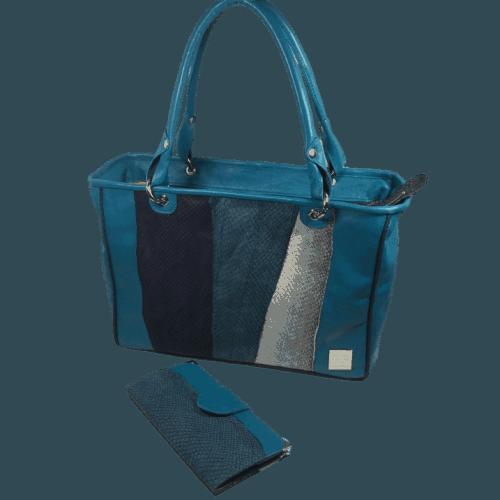 zalmleren-handtas-blauw-voorkant-hiptassen-opmaatgemaakt