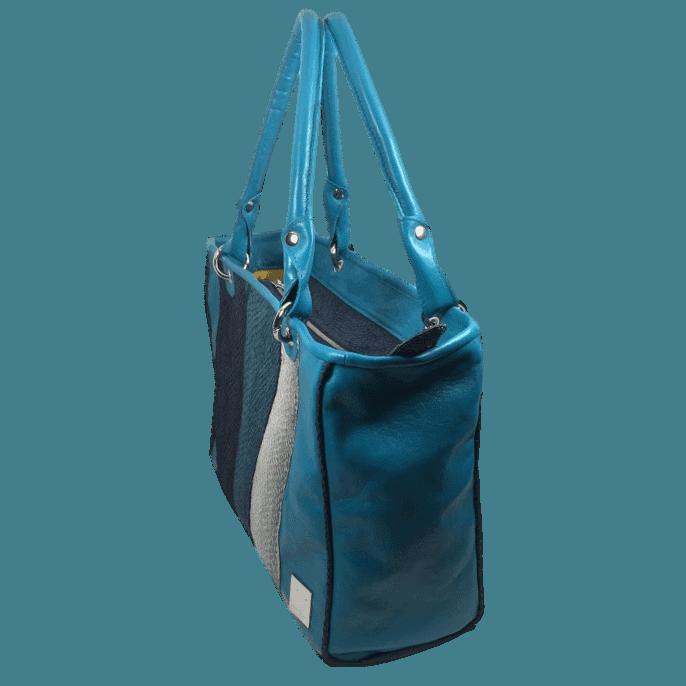 zalmleren-handtas-blauw-zijkant