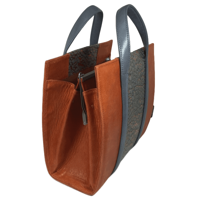 beugeltas-oranje-baars-visleer-zijkant-hiptassen-handgemaakt