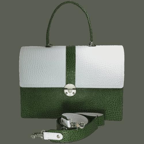 dames-werktas-laptoptas-groen-crocoleer-voorkant-handgemaakt-hiptassen