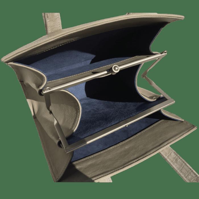 knipbeugeltas-handtas-grijsgroen-binnenkant-hiptassen-opmaatgemaakt
