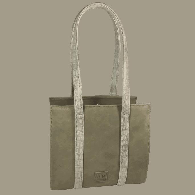 knipbeugeltas-handtas-grijsgroen-voorkant-hiptassen-opmaatgemaakt