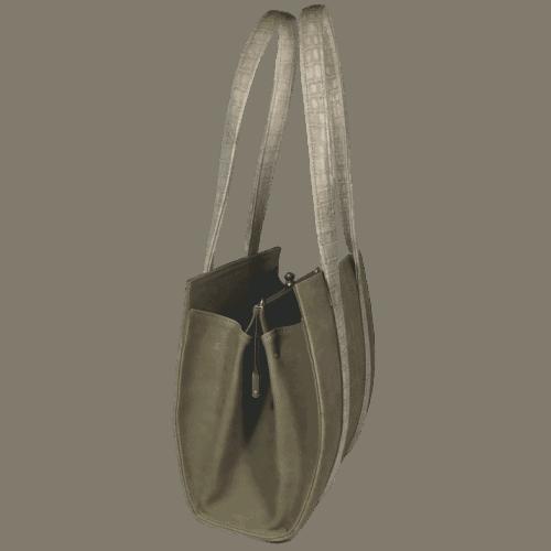 knipbeugeltas-handtas-grijsgroen-zijkant-hiptassen-opmaatgemaakt