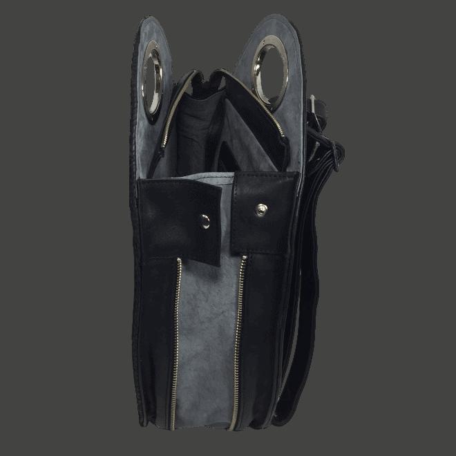zalmleren-rugtas-zwart-zijkant-open-handgemaakt-hiptassen
