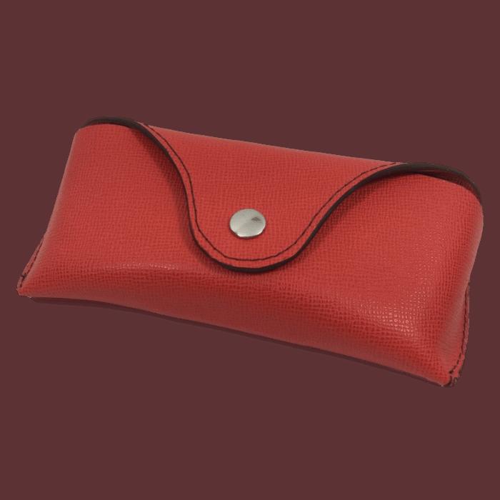 brillenkoker rood voor RayBan brillen op maat gemaakt Hip tassen