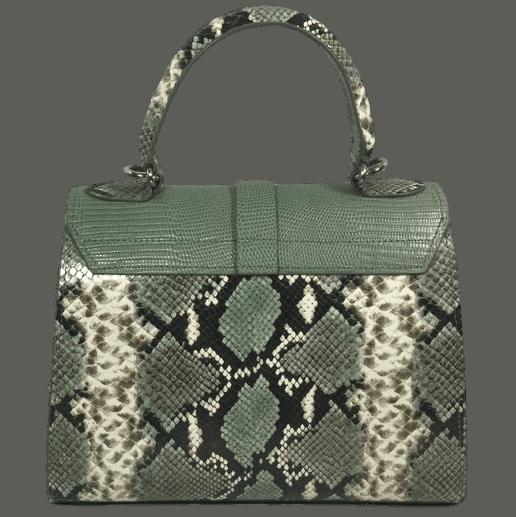 handtas-groene-slangenprint-lizardprint-achterkant-hiptassen-handgemaakt