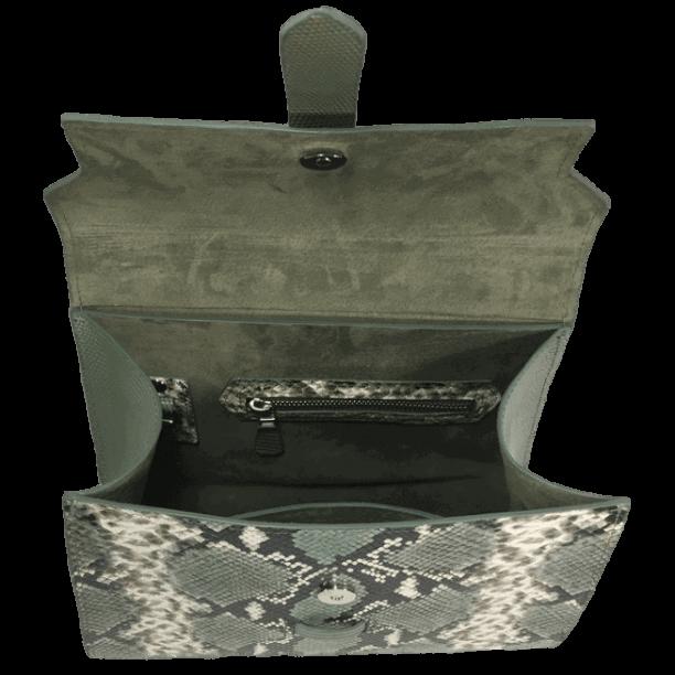 handtas-groene-slangenprint-lizardprint-binnenkant-hiptassen-handgemaakt
