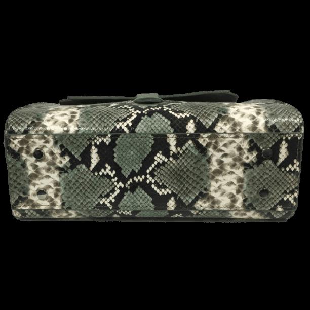 handtas-groene-slangenprint-lizardprint-onderkant-hiptassen-handgemaakt