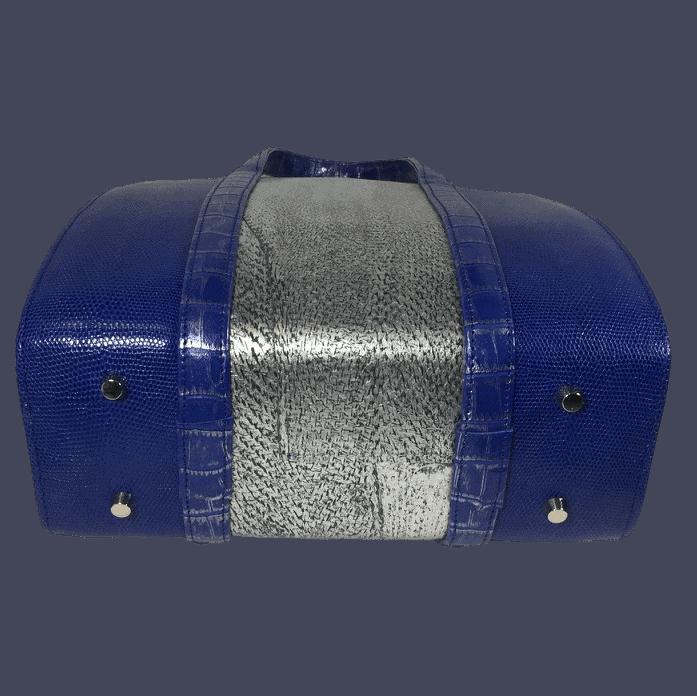dubbele-beugeltas-blauw-zilver-zalmleer-lizardprint-bodem-hiptassen-opmaat-gemaakt