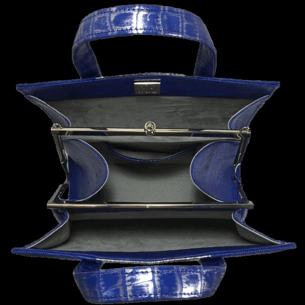 dubbele-beugeltas-blauw-zilver-zalmleer-lizardprint-bovenkant-open-hiptassen-opmaat-gemaakt