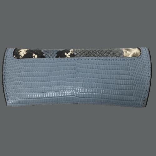 brillenkoker-blauw-slangenprint-leer-achterkant-hiptassen-opmaat-gemaakt