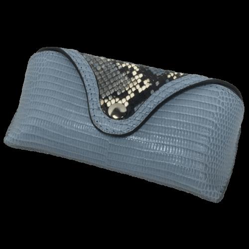 brillenkoker-blauw-slangenprint-leer-voorkant-hiptassen-opmaat-gemaakt