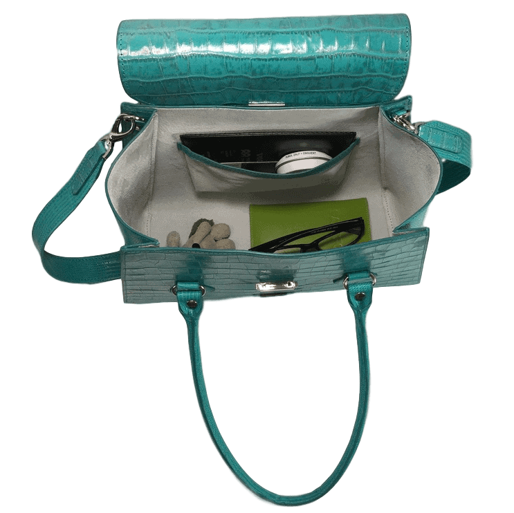 handtas-turquoise-crocoprint-leer-binnenkant-hiptassen-opmaat-gemaakt