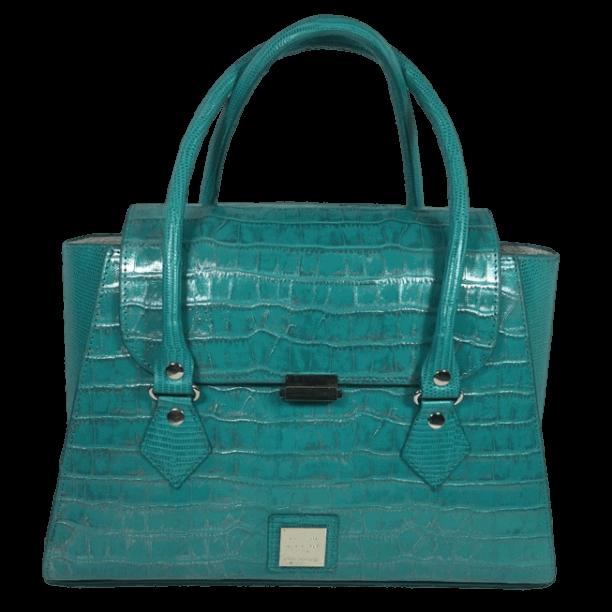 handtas-turquoise-crocoprint-leer-voor-hiptassen-opmaat-gemaakt