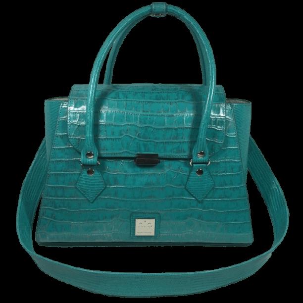 handtas-turquoise-crocoprint-leer-voorkant-hiptassen-opmaat-gemaakt