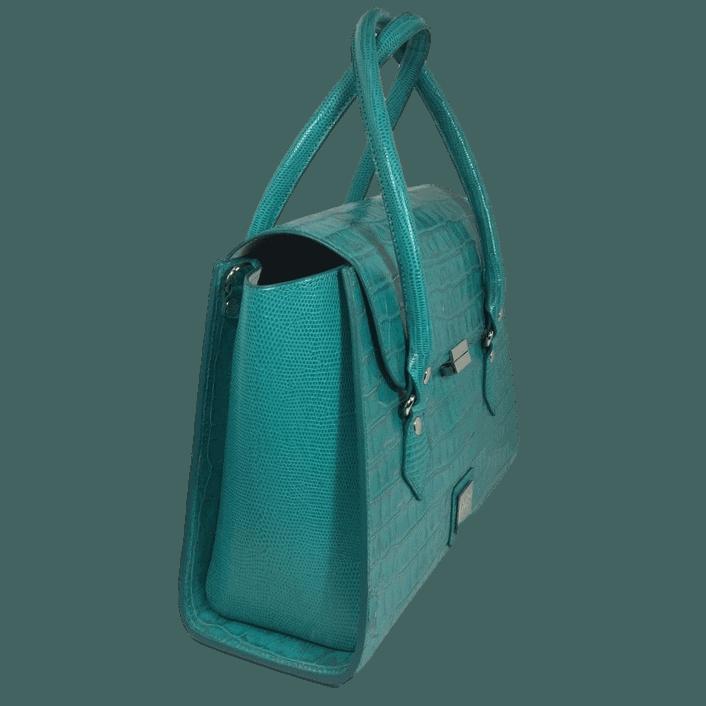 handtas-turquoise-crocoprint-leer-zijkant-hiptassen-opmaat-gemaakt