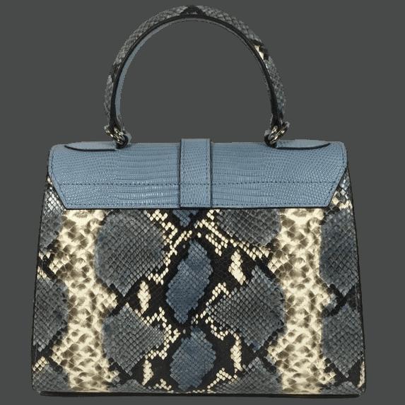 kleine-elegante-handtas-blauw-slangenprint-leer-achterkant-osaka-hiptassen-opmaat-gemaakt