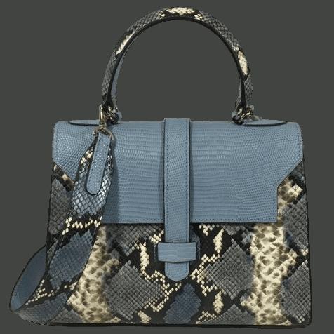 kleine-elegante-handtas-blauw-slangenprint-leer-voorkant-osaka-hiptassen-opmaat-gemaakt