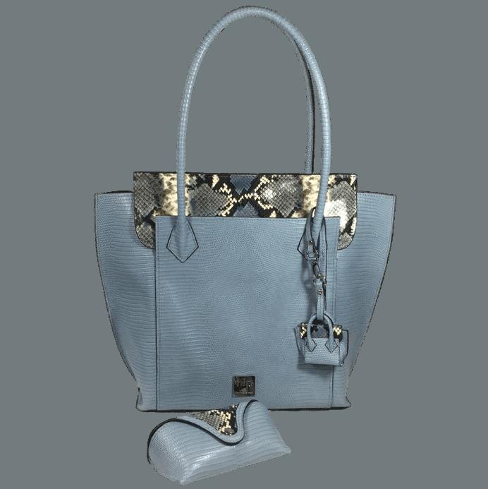 shopper-blauw-slangenprint-leer-voorkant-brillenkoker-hiptassen-opmaat-gemaakt