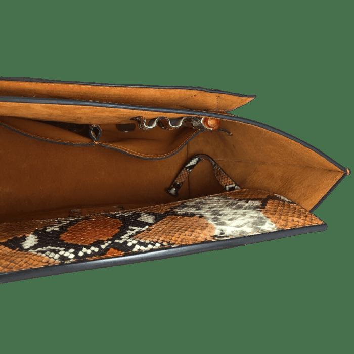 shopper-oranje-slangenprint-leer-binnenkant-hiptassen-opmaat-gemaakt