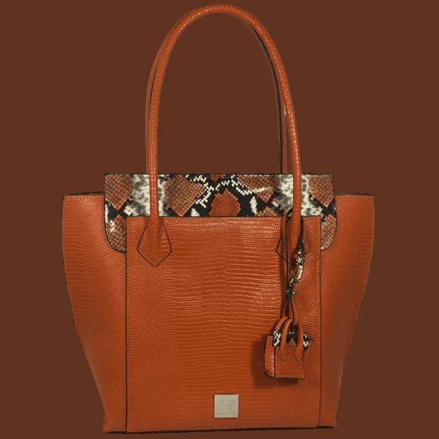 shopper-oranje-slangenprint-leer-voorkant-hiptassen-opmaat-gemaakt